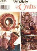 Simplicity 8770 Crafts Sewing Pattern Fabric Crochet & Sewn Christmas Ornaments
