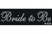 Bride Groom Bridesmaid Maid Matron of Honour Flower Girl Clear Rhinestone Iron On Hot Fix Appliques