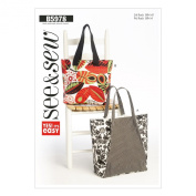 Butterick Patterns B5978 Bags Sewing Template, Size A