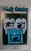 Grizzly Country Quilt Pattern for Wall Hanging and Sweat Shirt by Sunset Silhouette Designs