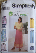 Simplicity Sewing Pattern #9139 ~ Misses' Skirt, Pants or Shorts ~ XS-XL
