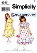 Simplicity 8556 Sewing Pattern Girls Dress & Slip Size 7 - 8 - 10 - 12
