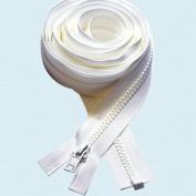 300cm Zipper ~ Long Arm Quilting Machine Zipper ~ YKK #5 Moulded Plastic ~ Separating - White