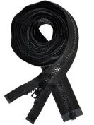 230cm VISLON ZIPPER ~ YKK #5 Moulded Separating ~ Sleeping Bag ~ Black
