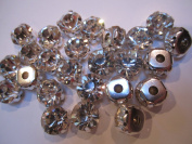 50 Pieces - 4mm Sew On Rhinestones in Clear by Cosmetic Counter
