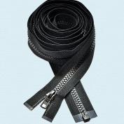 300cm Zipper ~ Long Arm Quilting Machine Zipper ~ YKK #5 Moulded Plastic ~ Separating - Black