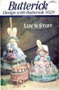 Butterick 6029 Crafts Sewing Pattern Luv 'N Stuff Bunny Hide-Away