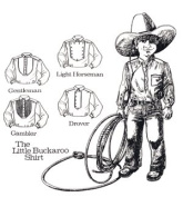 Little Buckaroo Shirts Pattern