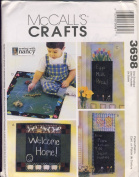 McCall Crafts Sewing Pattern 3698 - Use to Make - Chalkboard Wallhanging (2 Sizes - View A is 44cm x 39cm and View B is 33cm x 80cm x and Playmat