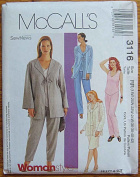 McCall's 3116 Sewing Pattern Women's Unlined Jacket, Top, Pull-on Pants and Skirt, Sizes 18W-20W-22W-24W