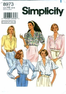 Simplicity 8973 Sewing Pattern Misses Blouse with Sleeve Variations Size 6 - 14 - Bust 30 1/2 - 36