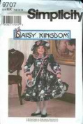 Simplicity 9707 Girls' Daisy Kingdom Dress, Purse and Hat Size HH