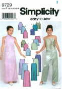 Simplicity 9729 Sewing Pattern Easy To Sew Girls Top Skirt Pants Size 7 - 16