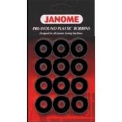 Janome Pre-wound Plastic Bobbins - Black