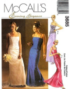 McCall's Sewing Pattern 3685 Misses' Formal Tops & Skirts, Size BB