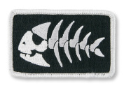 Jolly Pirate Fish Iron-on Patch