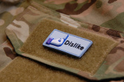 3d PVC Facebook Dislike hook and loop Morale Patch Army Military