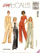 McCall's Sewing Pattern 8644 Misses' Unlined Jacket and Jumpsuit, Size A