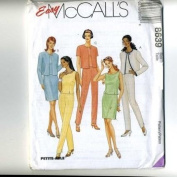 McCall's Sewing Pattern 8639 Misses' Unlined Jacket, Top, Pants & Skirt, Size AX