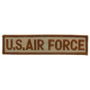US Military Embroidered Iron On Patch - Desert Warfare Collection - USAF Tab (United Stated Air Force) Applique