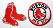 MLB Boston Red Sox Patches 8x7.5 /7.5x7.5 Cm Sew/iron on Patch to Cloth, Jacket, Jean, Cap, T-shirt and Etc.