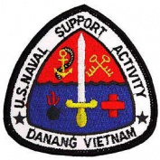 US Military Embroidered Iron on Patch - Vietnam War Collection - Da Nang US Naval Support Applique