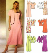 Simplicity 5675 Sewing Pattern Misses Full Figure Dress Jacket Size 14 - 22