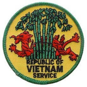 US Military Embroidered Iron on Patch - Vietnam War Collection - Republic of Vietnam Service Applique