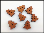100pcs Mixed Wooden Buttons in Bulk Buttons for Crafts Button Vinatge Pine Tree Buttons Bu-85