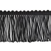 15cm Vintage Chainette Fringe, by 2-yards, Black, NB-1724-6