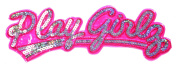 Blink Silver Pink Play Girl DIY Embroidered Sew Iron on Patch