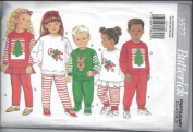 Butterick 3577 Kid's Christmas Top, Pants & Headband - Size 2 3 4 5 6 6x