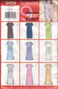 Butterick 6459 Misses'/Misses' Petite Dress in 9 Styles, Size 6 8 10
