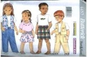 Butterick Sewing Pattern 4457 Children's Top, Vest, Shorts & Pants, Size 4-5-6
