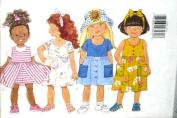 Butterick Sewing Pattern 4460 Girls' Dress & Shorts, Size 2 3 4