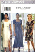 Butterick Sewing Pattern 4491 Misses' Dress, Sizes 12 14 16