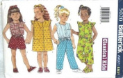 Butterick Sewing Pattern 5020 Toddlers' Dress, Top, Shorts, Pants & Headband, Size 1 2 3