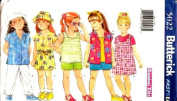 Butterick Sewing Pattern 5022 Girls' Shirt, Tank Top, Jumper, Shorts, Pants & Hat, Size 2 3 4