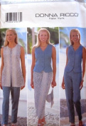 Butterick Sewing Pattern 5038 Misses' Top, Tunic, Skirt & Pants, Size 6-8-10