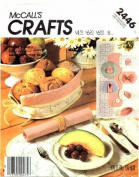 McCall's 2446 Crafts Sewing Pattern Table Linen Runner Placemats Napkins Bread Basket Coasters