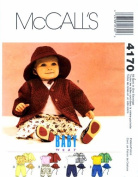 McCall's 4170 Sewing Pattern Infants Jacket Top Pants Hat Small - Extra Large