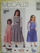 McCall's 6134 Girl's Jumper, Blouse, Petticoat and Appliques, Size CE 3 4 5