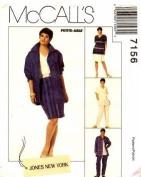 McCall's 7156 Misses' Jacket, top, Skirt & Slacks, Size 8