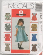 McCall's 9146 Toddler Dress in 8 Styles, Size 2, 3, 4