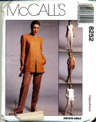 McCall's Sewing Pattern 8252 Misses' Lined Jacket, Vest & Pants - Jones New York, Size 18