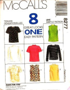 McCall's Sewing Pattern 8277 Misses' Tops - 8 Styles, Med