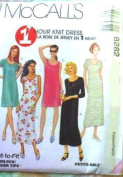 McCall's Sewing Pattern 8282 Misses' 1 Hour Knit Dress - 5 Styles, E