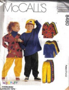 McCall's Sewing Pattern 8480 Boy's & Girl's Tops and Pull-on Pants, Size SM