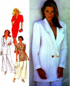Misses Double Breasted Jacket Skirt Pants Style 2411 Sewing Pattern Size 8 - 18