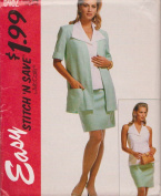 Misses Unlined Cardigan, Top And Skirt McCall's Sewing Pattern 6482 (Size A